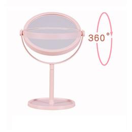 Schminkspiegel 2018 Neue Schwarz Rosa Rose Stil Tragbare Griff Kosmetik Spiegel Runde Förmigen Wc Glas Make-up Spiegel