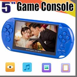 Mp4 игры бесплатная доставка онлайн-X9 Портативный Игровой Плеер 5-дюймовый Большой Экран Портативная Игровая Консоль MP4-Плеер с Камерой ТВ-Выход TF Видео для GBA FC Game бесплатная доставка