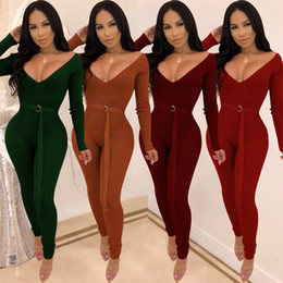 Womens Bandage Evening Party Playsuit Ladies Romper Long Jumpsuit Women  Ladies Femal Solid Off Shoulder Jumpsuits 50973af2e