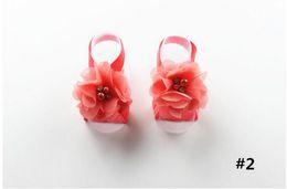 женские сандалии Скидка Детские Сандалии Цветочная Обувь Обложка Босиком Ноги Кружева Цветочные Галстуки Младенческая Девушка Дети Первая Обувь Уокер Фотографии Реквизит 16 Цветов CFYZ206