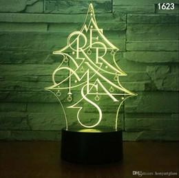 Cama da árvore de Natal dos bonecos de neve animal dos desenhos animados Insect Música Character ilusão 3D Lâmpada LED Night Light coloridos Alimentado por USB Mini Night Lights de