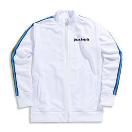 2019 верхняя одежда Palm Angels Летняя осенняя куртка Мужские куртки на молнии Верхняя одежда Уличная одежда с длинным рукавом Хип-хоп Дизайнерские черные мужские куртки скидка верхняя одежда