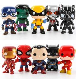 2019 capitão cracas FUNKO 10 pçs / set DC Justice Figuras de Ação Liga Marvel Avengers Super Hero Personagens Modelo de Ação De Vinil Figuras de Brinquedo para Crianças