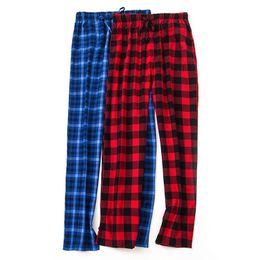 2019 calças de xadrez vermelhas mais tamanho Plus size sexy xadrez vermelho do sexo masculino bottoms sono inverno primavera Casual hot home calças 2019 New pijama pants men calças de xadrez vermelhas mais tamanho barato