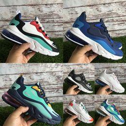 2020 scarpe americane 270React Psychedelic Light Beige Chalk Optical 27C React uomo donna scarpe da corsa Bauhaus American Modern Blue Void sneakers uomo scarpe americane economici