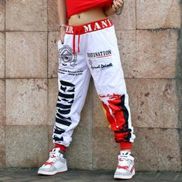 2019 mostrar patrones de ropa Nuevo patrón Moda Doodle Easy Leisure Time Pantalones Traje Hiphop Jazz Práctica Mostrar ropa Danza Haren Pantalones Y19070101 mostrar patrones de ropa baratos