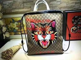 2019 bolsos de cuero bordados 2019 marcas de moda bolsos Tiger head bordado apliques de cuero genuino bolso de las mujeres monederos bolso de mano bolsos de alta calidad CDE-18 rebajas bolsos de cuero bordados