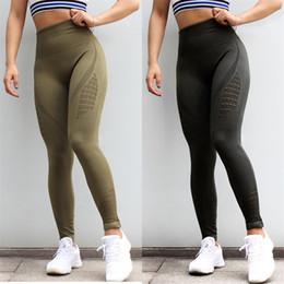 2019 braceletes crossfit Sexy Seamless Tubarão Yoga Pants Mulheres cintura alta costura oco Sport calças fêmeas executando Yoga Pants Formação de Fitness Gym Leggings Fahion