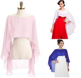 2019 bolero de lantejoulas da marinha 2019 Chiffon Wraps Wedding nupcial acessórios Cape Plus Size mulheres Designer Scarf Shawl Robe barato vestido de Chiffon