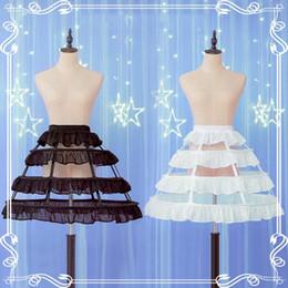 Lolita Dress Petticoat 3 Hoop Petticoat Ajustable Pannier Accesorios Jaula de crinolina Mujeres Cosplay Vestido hecho a mano Chica desde fabricantes