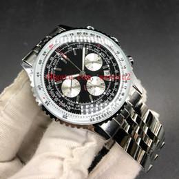 Reloj de acero color azul online-Reloj de lujo para hombre de 18 colores. Reloj de pulsera automático para hombre, NAVITIMER.