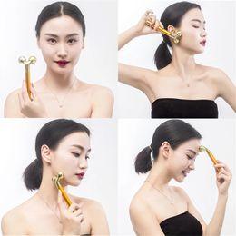 bastone di bellezza 24k Sconti Energy Beauty Bar Lifting viso elettrico 24k Gold Beauty facciale Vibration Roller Massager Stick Face Skin Care Stick Lifting rassodante