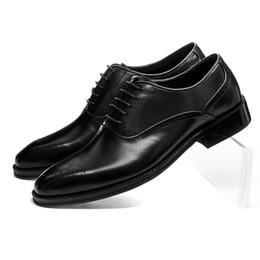 коричневые туфли для жениха Скидка Качество Goodyear Welt Shoes Коричневый Тан / Черные Оксфорды Мужское Платье из Натуральной Кожи Деловая Обувь Мужской Свадебные Туфли Groom