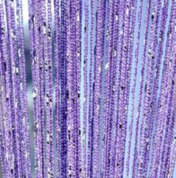 Painéis de cordas on-line-Cadeia de porta Cortina Painel de Parede Franja Janela Divisor de Quarto Cego Divisor de Tela de Borla Decorativa Cordas Cortinas 100 * 200 cm