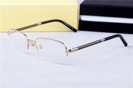 Argentina Las nuevas gafas de marco 500 de alta moda almohadillas de la nariz estructura de metal salvaje modelos de gafas de los hombres de civil marco 57-20-145 Suministro
