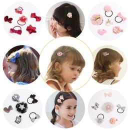 Pequenas coroas on-line-Little Girl Hair Rope Set Baby Girl Princesa Coroa Acessórios Para o Cabelo 6 pcs Baby Girl Hair Ring Set