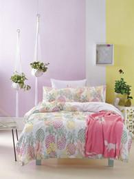 100% coton style ensemble de literie Twin King Queen Bed adultes enfants feuille taie d'oreiller housse de couette ananas Star Puzzle Maya ? partir de fabricateur