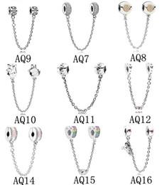 2019 tropischer schmuck großhandel Sicherheitskette Charms Perlen Für Pandora Armbänder Authentische 925 Sterling Silber Schmuck DIY Zubehör Modeschmuck