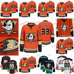 Bule stahl online-33 Jakob Silfverberg 2019-20 Dritte Alternative orange Anaheim Ducks Patrick Sieloff Max Comtois Hampus Lindholm Josh Manson Sam Stahl Jersey