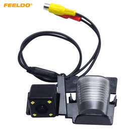 caméra de plaque de stationnement Promotion Caméra de stationnement avec vue arrière pour voiture FEELDO avec 4 DEL pour Jeep Wrangler 2012-13