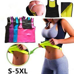 Corsetti di donne grasse online-Body shaper da donna Hot Sweat Workout Canotta snellente Tummy Fat Burner Neoprene Shaper Corsetto per dimagrire