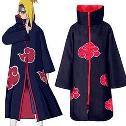 Venda quente Anime Naruto Akatsuki / Uchiha Uchiha Cosplay Traje Do Dia Das Bruxas Festa de Natal Capa Manto de