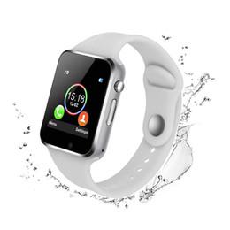 Наручные телефоны gsm онлайн-Bluetooth Смарт наручные часы A1 GSM телефон для Android Samsung IPhone Человек женщин смарт-часы