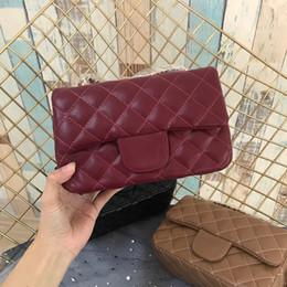 bolsos de cuero rojo con descuento Rebajas Bolsos de diseño de color rojo bolsos de las señoras de calidad superior de cuero de moda Vintage bolsas de hombro para las mujeres cruzan el cuerpo y el bolso