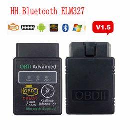 version kess v2 Promotion HH OBD ELM327 V1.5 Outil de diagnostic Bluetooth pour voiture OBDII Scanner Code Reader Outils de numérisation Vente chaude HHA70