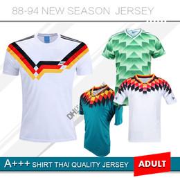 2019 camisa de 1994 1988 1990 1994 Alemanha Retro Camisas de Futebol Futbol  Camisa Deutschland em 4a31ea21e7977