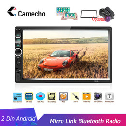 "reproductor de mp3 honda civic Rebajas Camecho 2Din radio de coche 2din Reproductor multimedia 7"" HD Autoradio USB AUX Bluetooth FM Auto estéreo Soporte de DVD del coche androide Espejo Enlace de audio"
