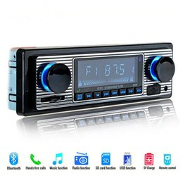 audio électronique Promotion Autoradio Lecteur MP3 Bluetooth Stéréo FM MP3 USB SD AUX Audio Electronique automatique autoradio 1 DIN pour radio