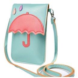 Мода леди сумка на плечо прекрасный зонтик телефон кошелек с сенсорным экраном PU деньги сумка на открытом воздухе сумки через плечо сумки от