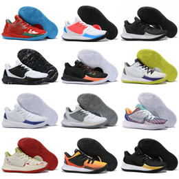 blanc orange chaussures de basket-ball kyrie Promotion Nouveau Kyrie Bas 2 Blanc Noir Or Jaune Violet Ice Bleu Chaussures de basket-ball de fond pour de haute qualité Hommes Kyrie2 Sport Chaussures Size40-47
