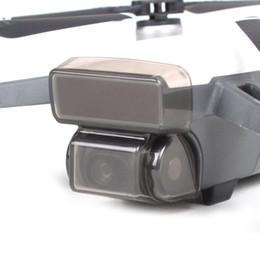 2019 casquillos centrales a presión Cubierta de la tapa de la lente del cardán de la cámara Guardia protectora para DJI Spark Accesorios para cámaras