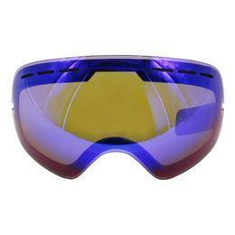 Замена линз очков онлайн-ЛОКЛ Гог-201 объектив лыжные очки объектив противотуманные UV400 большие сферические лыжные очки снег очки очки линзы замена (только объектив)