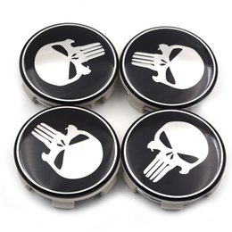 Crachá sintonizado on-line-4pcs Gzhengtong / lot 60 milímetros / 59 milímetros Punisher emblema O centro de roda Cap Hub Rim emblema Covers Caps styling Tampa Afinação