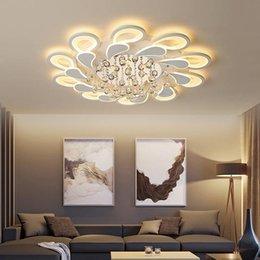 2019 plafonniers modernes led Nouveau conduit Lustre Pour Salon Chambre Maison Lustre Led moderne Lumières plafond Lustre Lampe