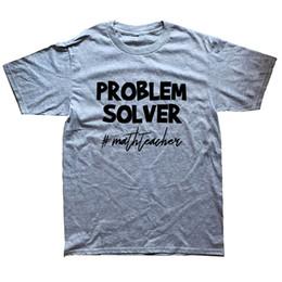 208949466448d 2019 matemática camisetas Camisa de t Projeto Tripulação Pescoço de Manga  Curta Solver Problema Professor de