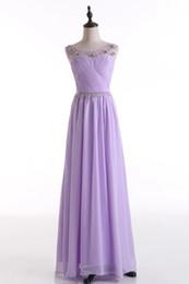 Cristal de abalorios Vestidos de dama de honor con pliegues 2019 Ivory Lavender Purple Blush Pink Yellow Vestidos de fiesta largos desde fabricantes