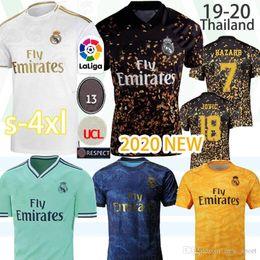 jersey futbol Desconto 2020 novas camisas reais de futebol Madrid 19 20 PERIGO Jovic ISCO camiseta de futbol 2019 camisa de futebol 2020 VINICIUS Rodrygo MENDY BALE ZIDANE