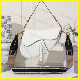 2019 sacchetti di freddo caldi all'ingrosso Donne Saddle bag, famoso progettista delle donne della borsa del nuovo sacchetto di spalla di lettera di alta qualità borsa Messenger borsa da sella in vera pelle