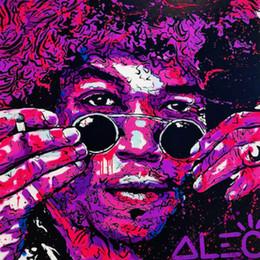 2019 frutas arte abstracta pinturas a óleo Alec Monopoly Pintura A Óleo sobre Tela arte graffiti Jimi Hendrix Guitarrista Wall Art Imagem Alta Quaity Handpainted HD Impresso