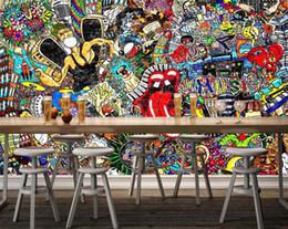 Carta da stampa di decalcomanie a parete online-[Autoadesivo] 3D Funny Graffiti 617950 Carta da parati murale Stampa murale Adesivi murali