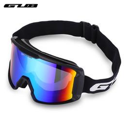 4b0547cbbde GUB S8000 Outdoor Ski Goggles Double-layer Lens TPU Frame Anti-fog  Eyeglasses Skiing Eyewear