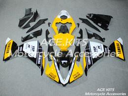 2019 ninja 636 de oro negro Carenados de motocicleta ACE para Yamaha YZF 1000-YZF-R1-12-13-14 YZF-R1-2012-2013-2014 Todo tipo de color No.H35