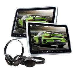 """2X HDMI 10"""" LCD Car Headrest Active Monitor DVD USB Player Game Headsets da cuscino della spalla del cinturino fornitori"""