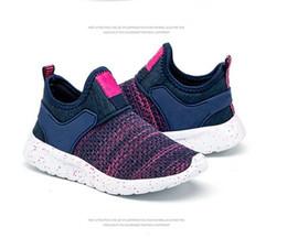 Спортивные туфли онлайн-2019 Детей кроссовки Детей случайной дышащей досуг Running ребенок мальчик обуви Athletic Открытых моды Девушка Дети обувь