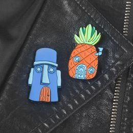 ананас штифты Скидка Cartoon Enamel Pins Brooches Carton Pineapple Broches Metal Alloy Badge Button Lapel Brooch For Kids Children Jewelry Pins gift Wholesale