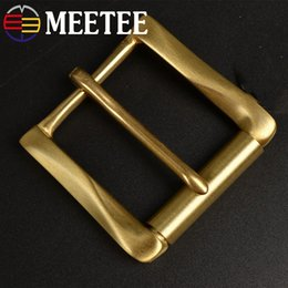 Fashion Solid Brass Belt Buckle For 40mm Women Men Metal Pin Buckles For Belt 37 38mm DIY Leather Craft Jeans Accessories